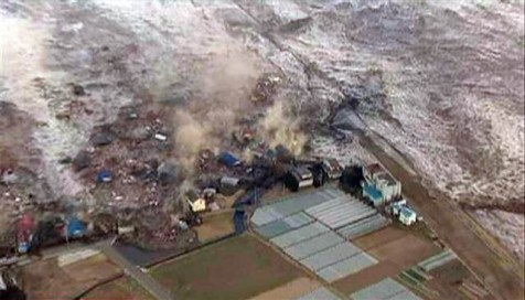 Japanese tsunami hits