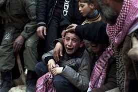 syria boy crying