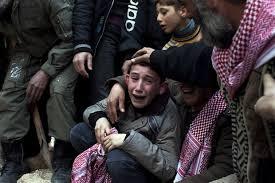 syria boy crying